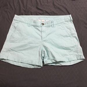 Cotton teal shorts